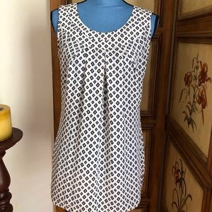 cabi S Cleo Diamond Print Tank Cream Black #3272